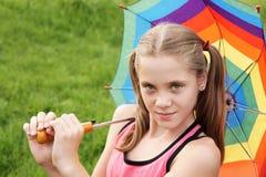 nastoletni dziewczyna parasol Obraz Royalty Free
