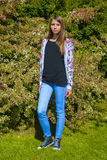 nastoletni dziewczyna piękny portret obraz royalty free