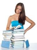 nastoletni dziewczyny książkowy czytanie fotografia royalty free