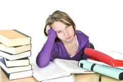 nastoletni dziewczyny studiowanie Fotografia Stock