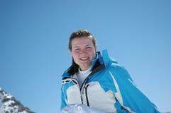 nastoletni dziewczyny winterportrait Obrazy Royalty Free