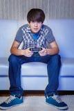 Nastoletni gamer Zdjęcia Royalty Free