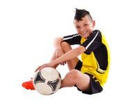 Nastoletni gracz piłki nożnej Zdjęcia Royalty Free