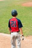 Nastoletni gracz przy nietoperzem Zdjęcia Stock