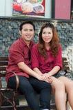 Nastoletni kochankowie cieszą się w Thailand Zdjęcie Stock