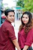 Nastoletni kochankowie cieszą się w Thailand Obraz Stock