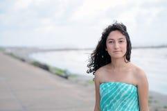 Nastoletni model przy plażą Obraz Stock