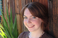 nastoletni plenerowy dziewczyna portret Zdjęcie Royalty Free