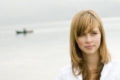 nastoletni plenerowy dziewczyna portret Obrazy Royalty Free