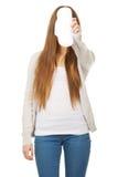 Nastoletni z miesiączka ochraniaczem obrazy stock