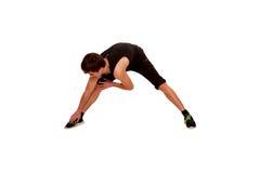 Nastoletnia chłopiec bawić się sporty, sprawność fizyczna trening. Obrazy Royalty Free