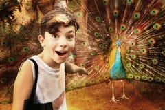 Nastoletnia chłopiec w Hoshimin miasta zoo zdjęcie stock