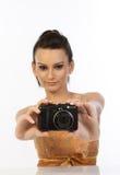 nastoletnia cyfrowa kamery dziewczyna Obrazy Stock