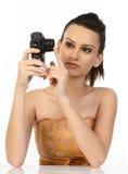 nastoletnia cyfrowa kamery dziewczyna Fotografia Stock