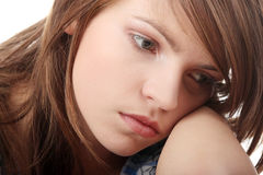nastoletnia depresji dziewczyna Obrazy Royalty Free