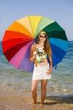 Nastoletnia dziewczyna przy morzem Obraz Stock