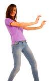 Nastoletnia dziewczyna taniec obraz stock