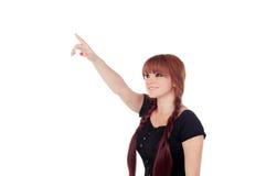 Nastoletnia dziewczyna ubierał w czerni z przebijaniem w nosie indica zdjęcia stock