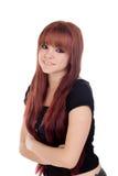 Nastoletnia dziewczyna ubierająca w czerni z przebijaniem Obraz Stock