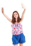 Nastoletnia dziewczyna w studiu zdjęcie stock