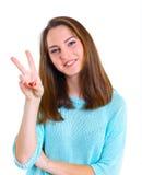 Nastoletnia dziewczyna w studiu obrazy royalty free