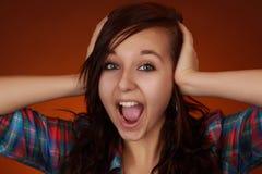 nastoletnia ekspresyjna dziewczyna Obrazy Royalty Free