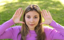 nastoletnia kobieta Obrazy Royalty Free