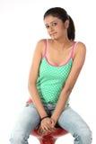 nastoletnia krzesło dziewczyna zdjęcia stock