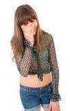 nastoletnia płacz dziewczyna Obraz Royalty Free