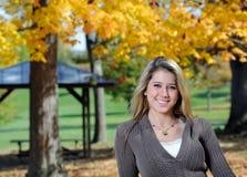 nastoletnia piękna jesień dziewczyna Obraz Stock