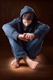 nastoletnia samotna chłopiec obraz stock