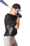 nastoletnia uderzenie kijem chłopiec Zdjęcie Royalty Free