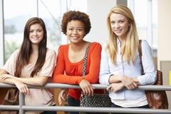 Nastoletnie studenckie dziewczyny indoors Obrazy Royalty Free