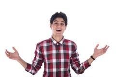 Nastoletniego chłopaka ono uśmiecha się Zdjęcia Stock
