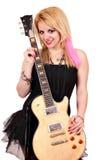 Nastoletniej dziewczyny rock and roll gwiazda Obraz Royalty Free