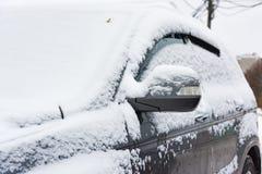 Nastraja śnieżnych samochody obraz stock