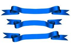 Nastri blu Fotografia Stock Libera da Diritti