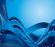 Nastri blu Fotografie Stock Libere da Diritti