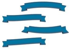 Nastri blu messi Immagini Stock