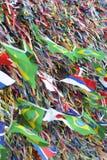 Nastri brasiliani ed internazionali Bonfim Salvador Bahia di desiderio delle bandiere Immagini Stock