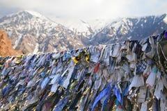 Nastri buddisti di preghiera fotografia stock libera da diritti