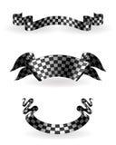 Nastri Checkered impostati royalty illustrazione gratis