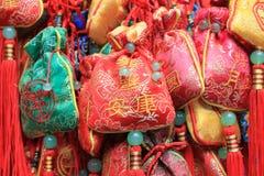 Nastri cinesi di preghiera Immagini Stock