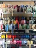 Nastri colorati del raso Fotografia Stock