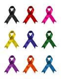 Nastri colorati differenti di sostegno Fotografie Stock