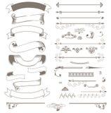Nastri d'annata ed elementi di progettazione Royalty Illustrazione gratis