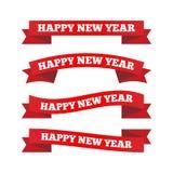 Nastri del buon anno Immagini Stock Libere da Diritti