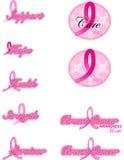 Nastri del cancro della mammella Fotografia Stock Libera da Diritti