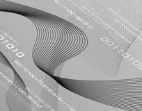 Nastri del collegare di gradazione di grigio 3D Fotografie Stock