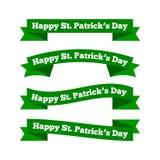 Nastri del giorno di St Patrick Fotografia Stock